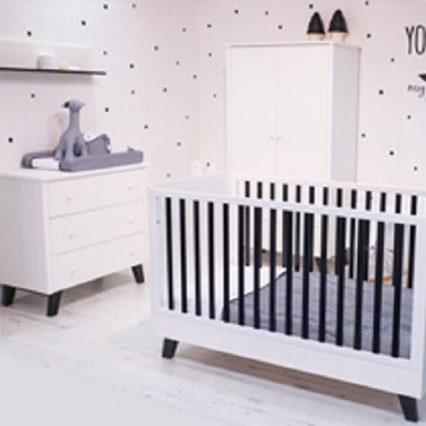 Born Lucky Babykamer Zara Zwart/Wit