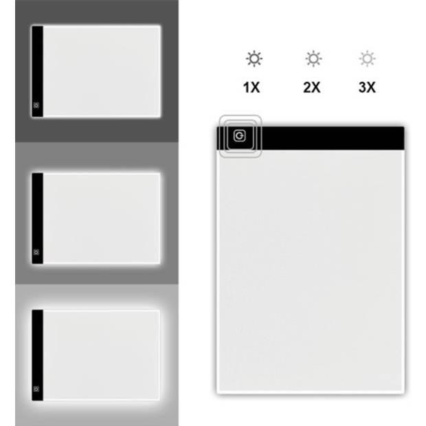 Diamond Painting A4 Led Lichtbord (Lightpad) - Dimbaar - 3 standen - SEOS Shop ®