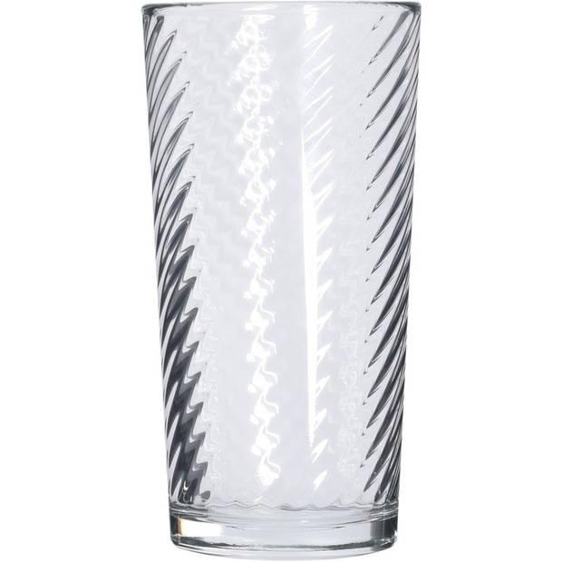6x Longdrink glazen - 230 ml - 6-delig - cocktailglazen/drinkglazen