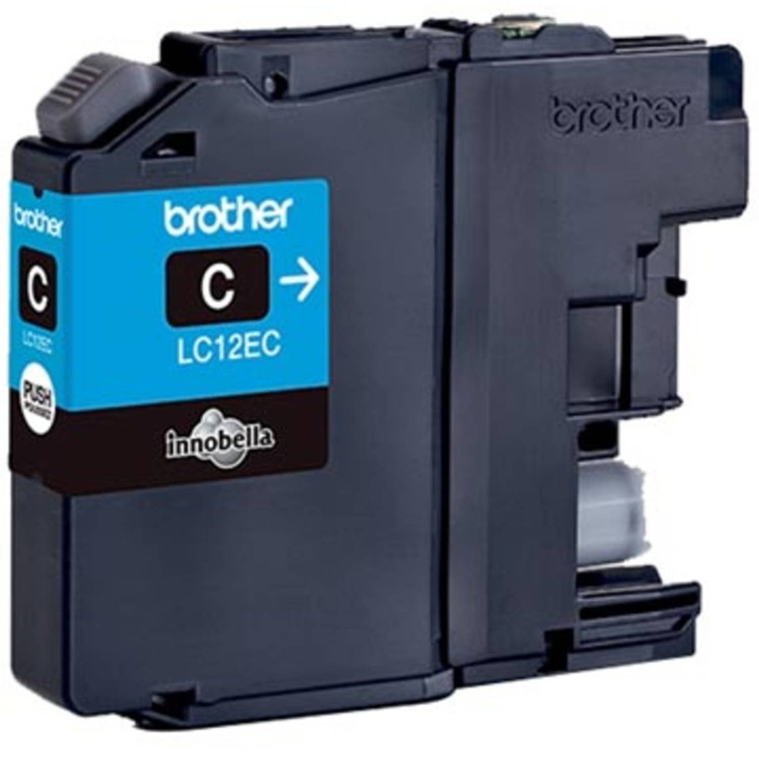 Brother inktcartridge cyaan, 1.200 pagina's - OEM: LC-12EC