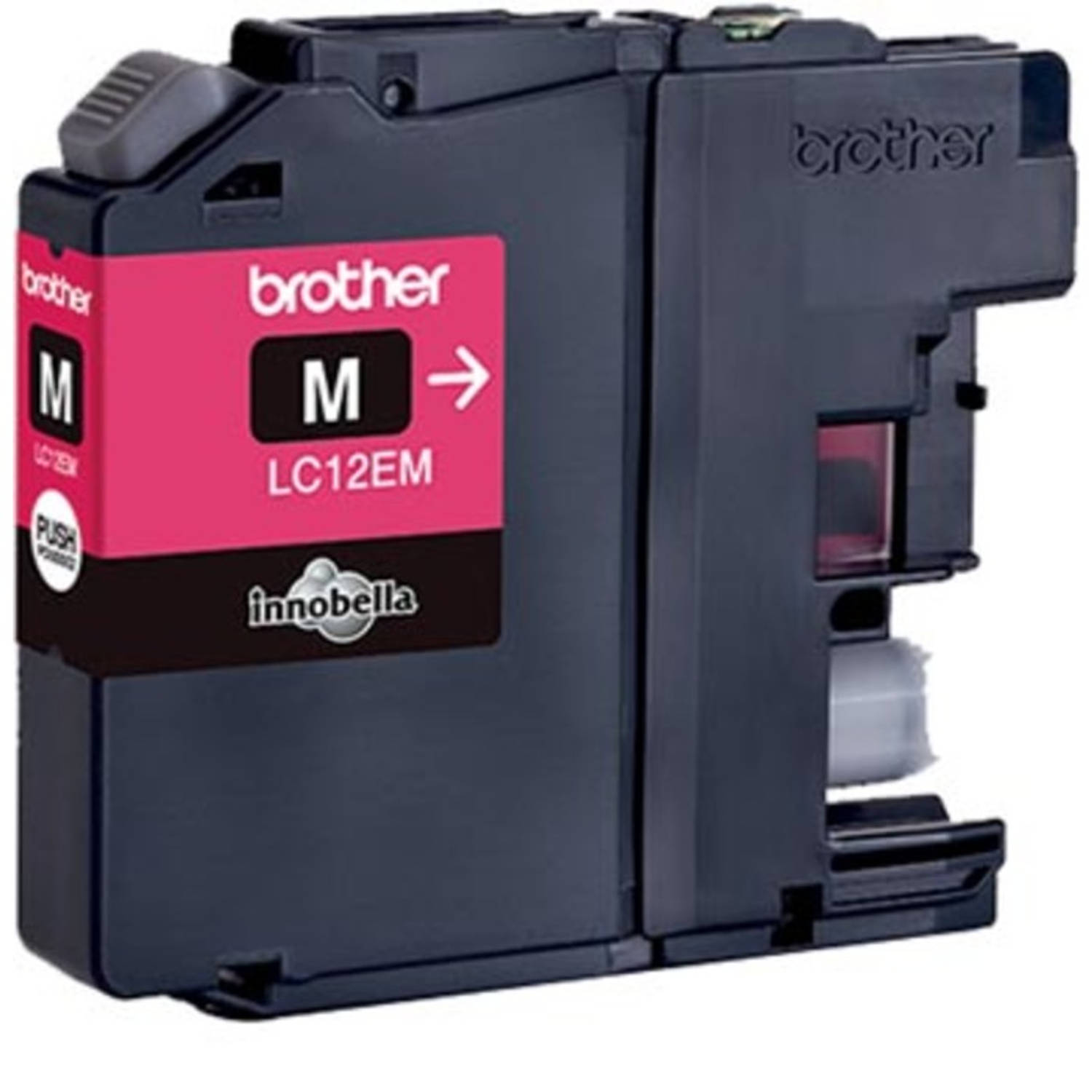 Brother inktcartridge magenta, 1.200 pagina's - OEM: LC-12EM