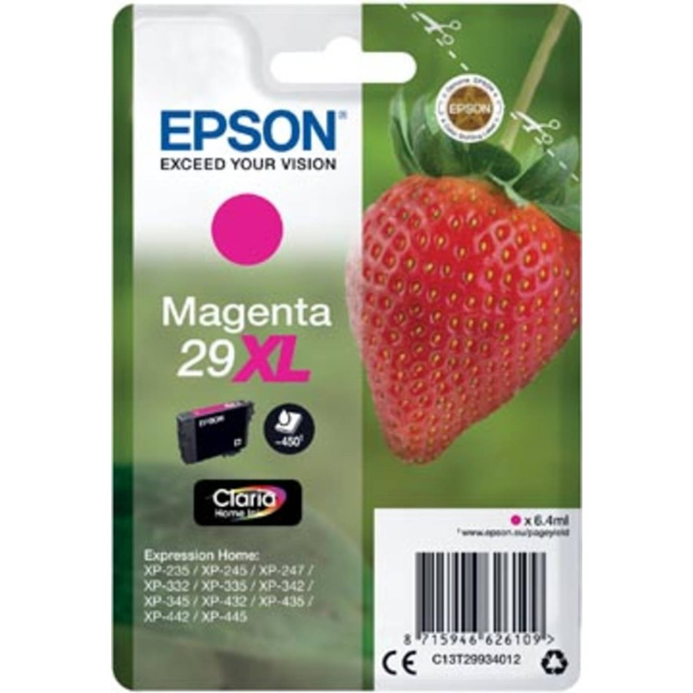 Epson inktcartridge 29XL magenta, 450 pagina's - OEM: C13T29934012