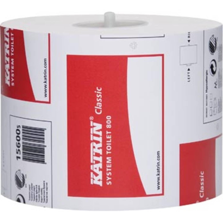 Katrin toiletpapier voor dispensers Classic, 2-laags, 800 vellen, pak van 36 rollen