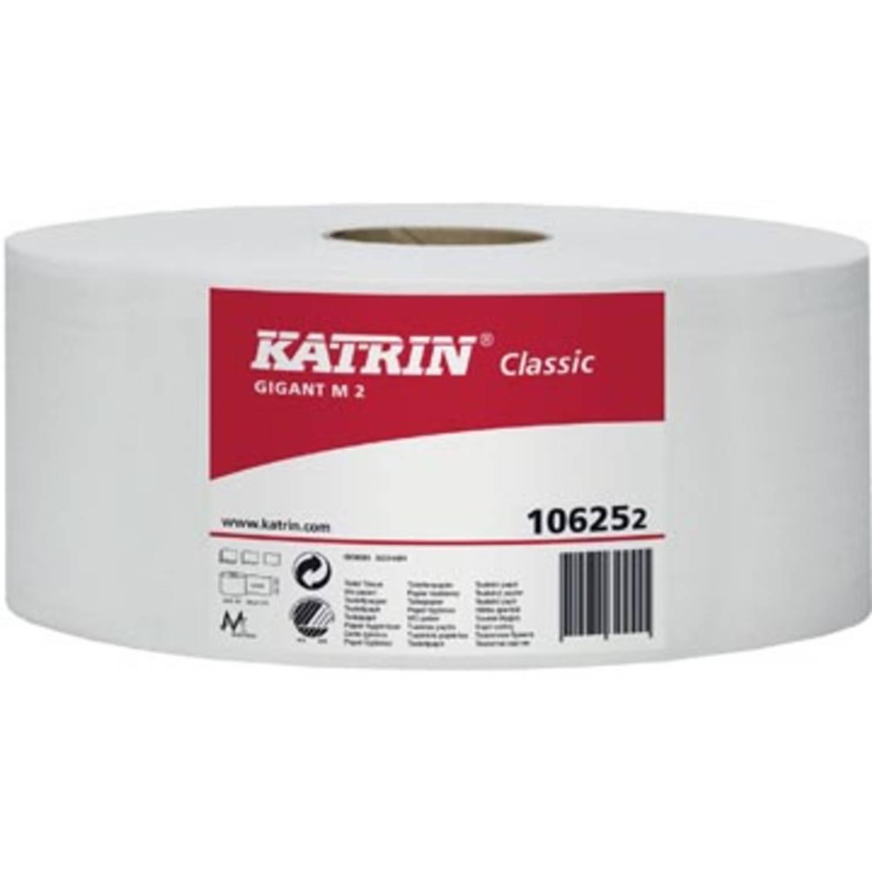 Katrin toiletpapier Classic Gigant M2, 2-laags, 2720 vel per rol, pak van 6 rollen