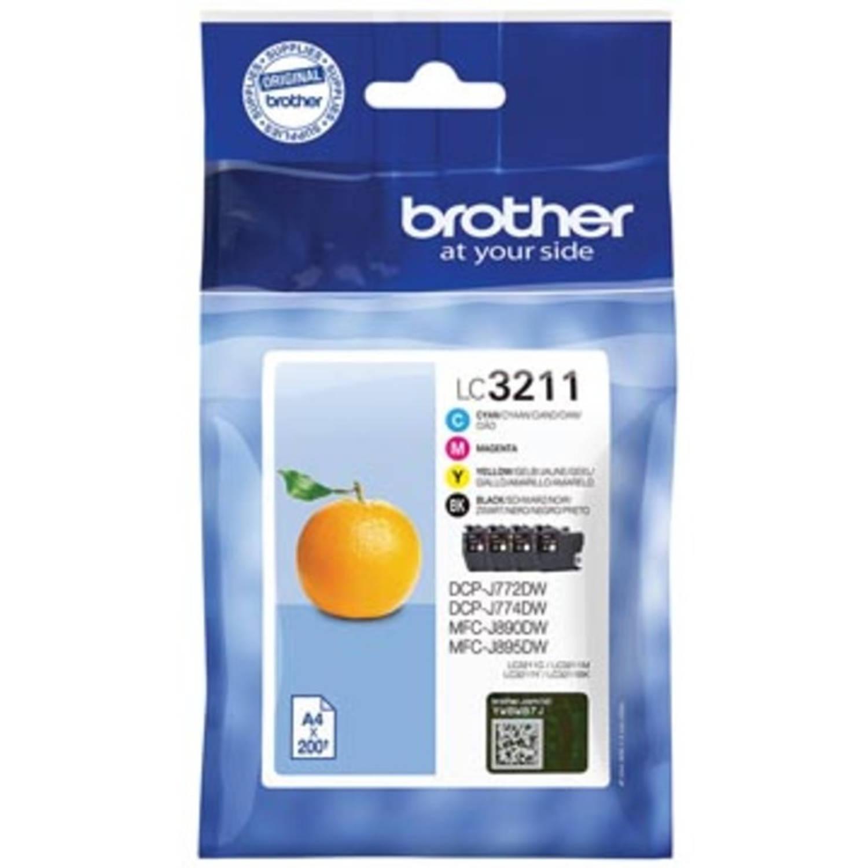 Brother inktcartridge 4 kleuren, 400 pagina's - OEM: LC-3211VAL