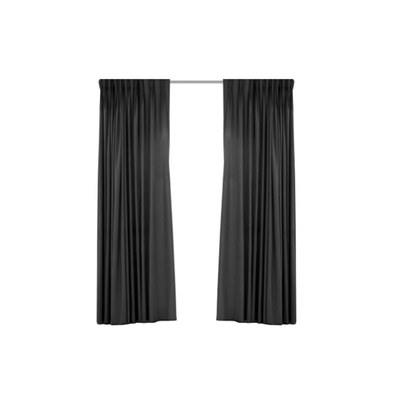 Image of Blackout verduisterend gordijn - Larson - Ringen -Dark Grey- 300x250 cm