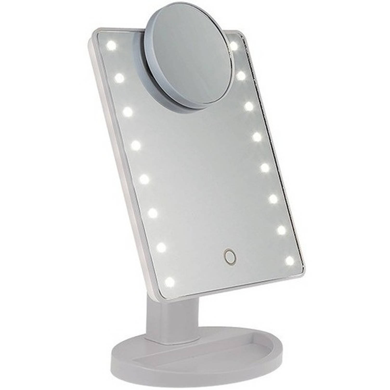 Spiegel Op Je Computer.Spiegel Op Standaard Met Led Verlichting 28 X 20 Cm