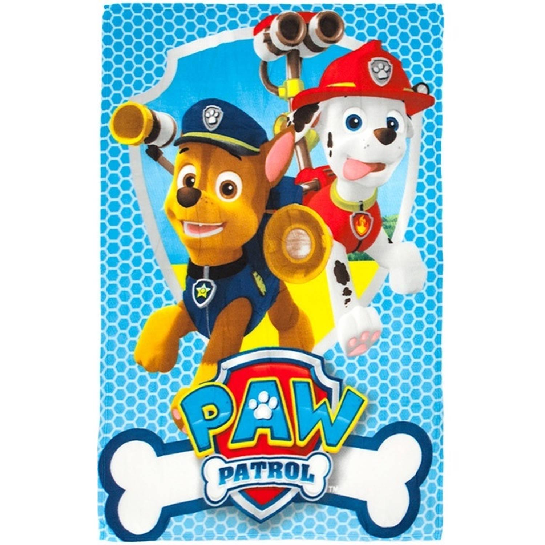 Spin Master fleece-deken Paw Patrol 150 x 100 cm blauw