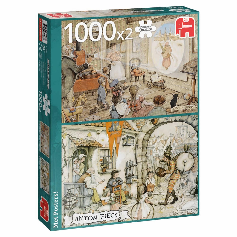 Anton Pieck legpuzzel - Toverlantaarn in de huiskamer & Koperen Ko - 2x 1000 stukjes