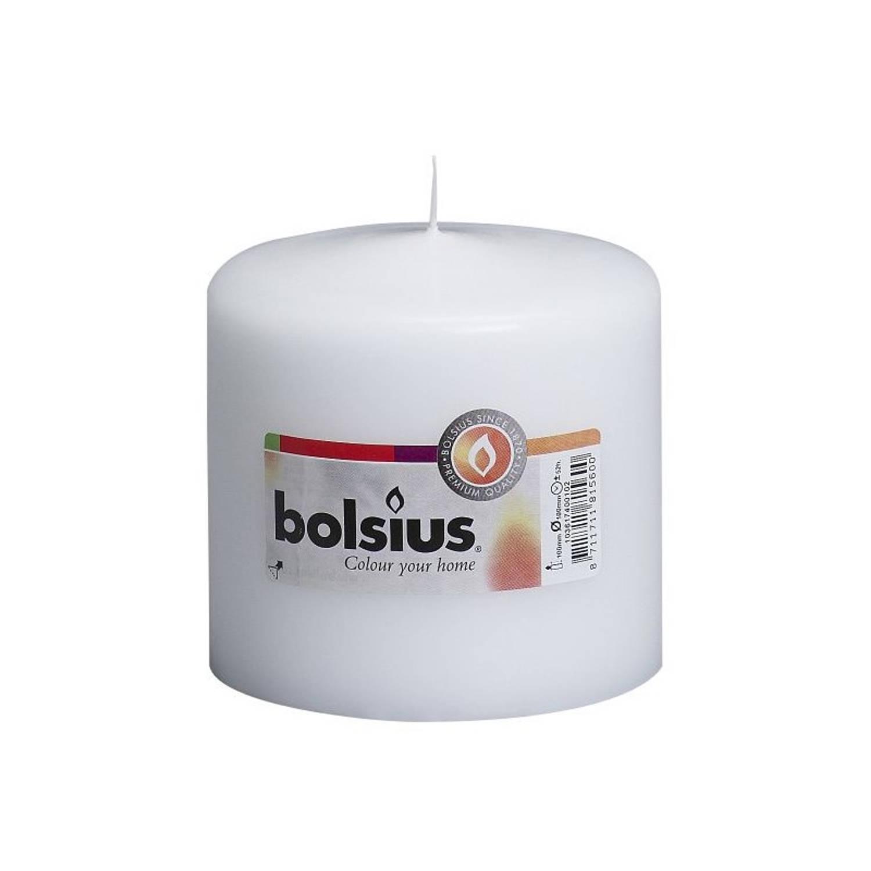 Bolsius stompkaars 100/100 mm wit Stompkaarsen