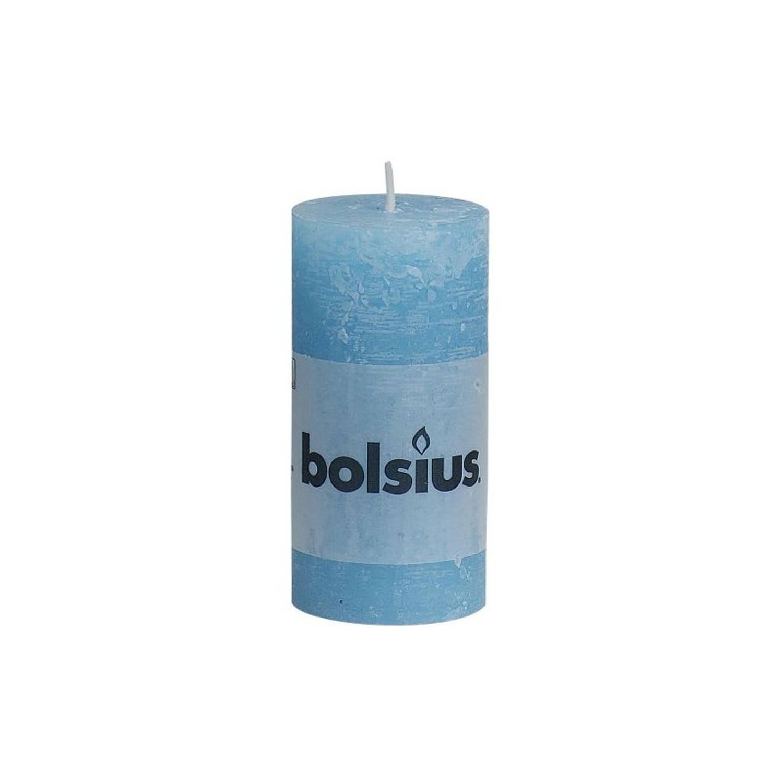 Korting Bolsius Rustiek Stompkaars 100x50 Aqua Rustiekkaarsen