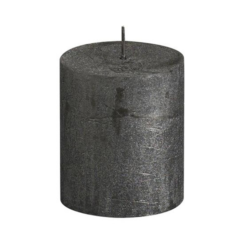 Bolsius rustiekkaars metallic 80/68mm Kerstartikelen