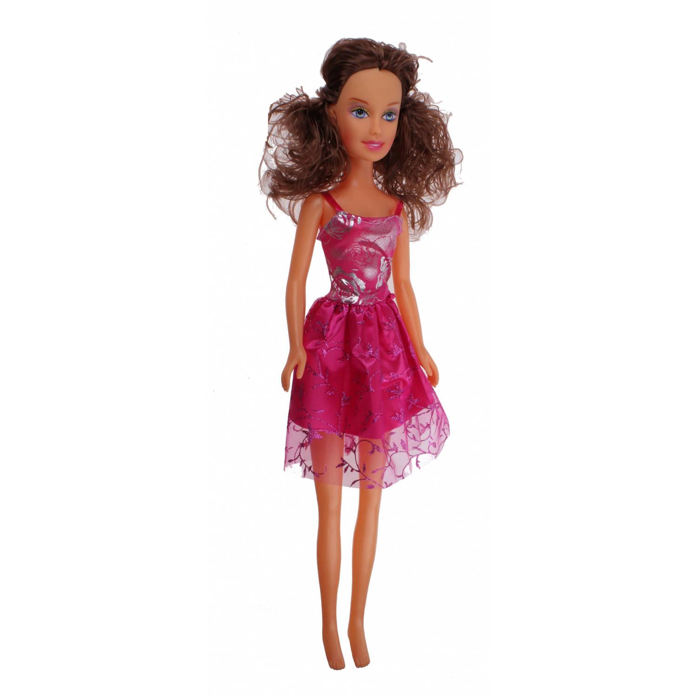 Free and Easy fashionpop 60 cm roze jurk