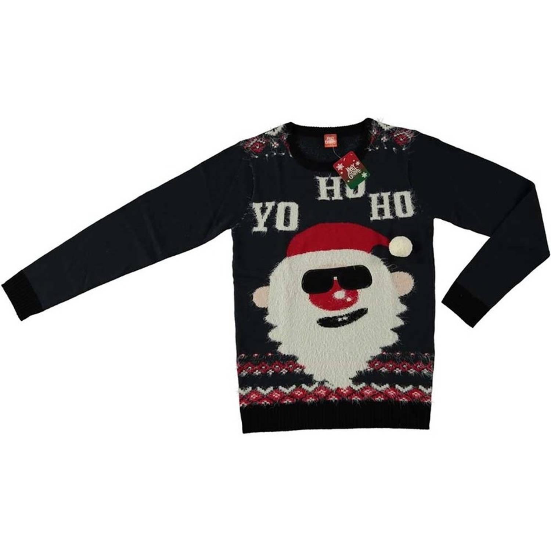 Foute Kersttrui 3xl.Foute Kersttrui Sweater Stropdas Met Kerstman Print Grijs Voor Heren