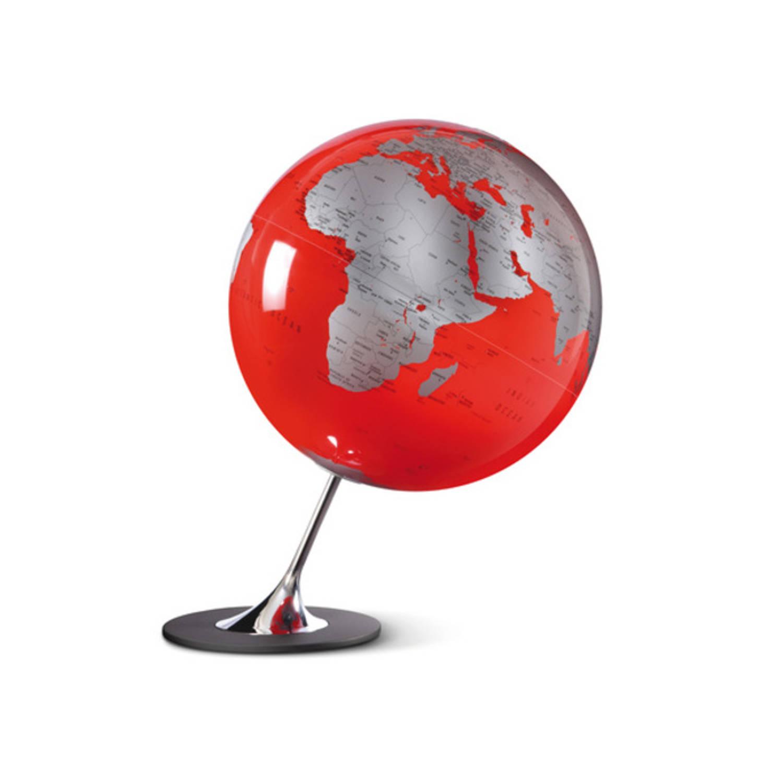 Afbeelding van Globe Anglo Red 25cm diameter metaal / chrome
