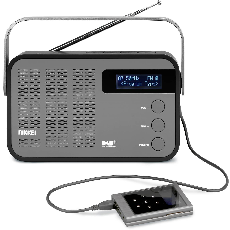 NDB40BK portable DAB+ radio met PLL FM, Bluetooth en ingang voor usb, Micro sd en aux
