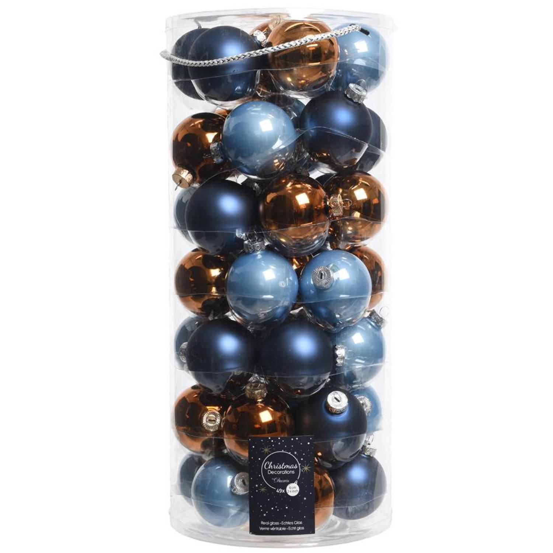 Glas Kerstballen Mix (6cm) Box 49 Stuks Winter Event