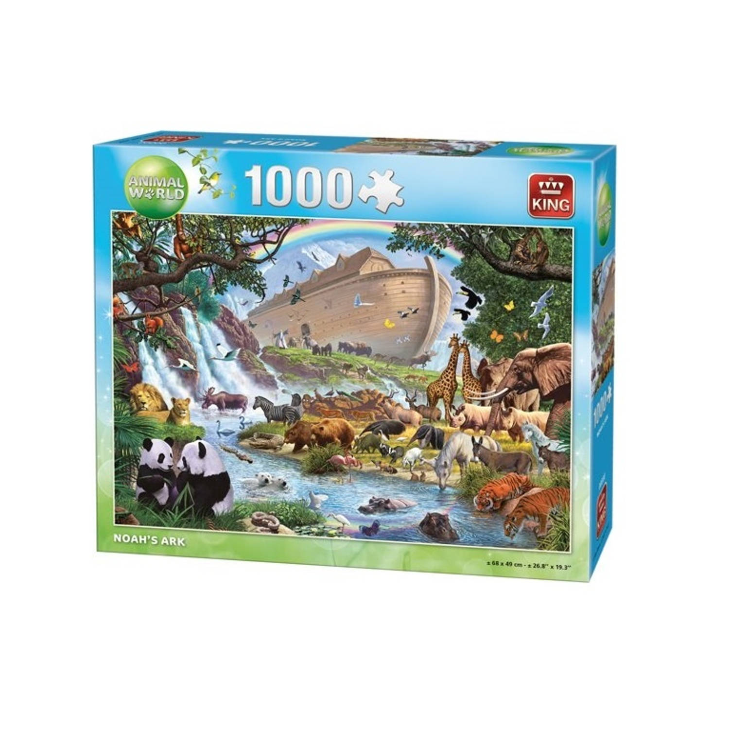 King International legpuzzel Noah's Arc 1000 Stukjes 68 x 49 cm