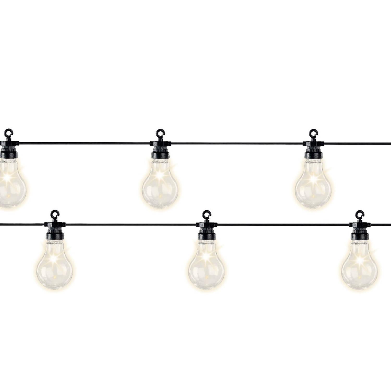 LED lampverl.gr.starterkit bu/9.5m-20L/zwart/warm wit