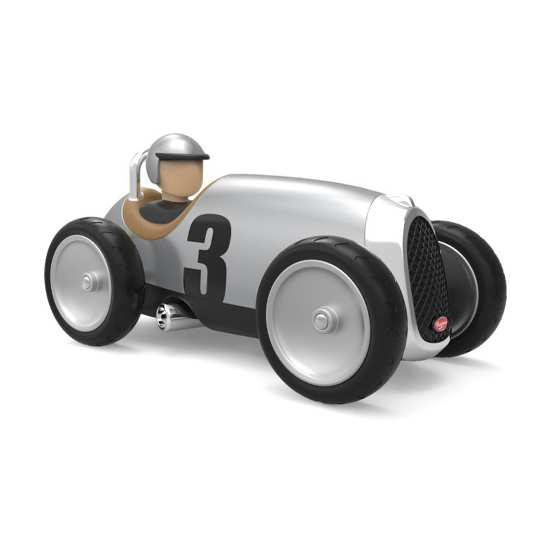 Afbeelding van Baghera Retro Speelgoedauto Racer Silver