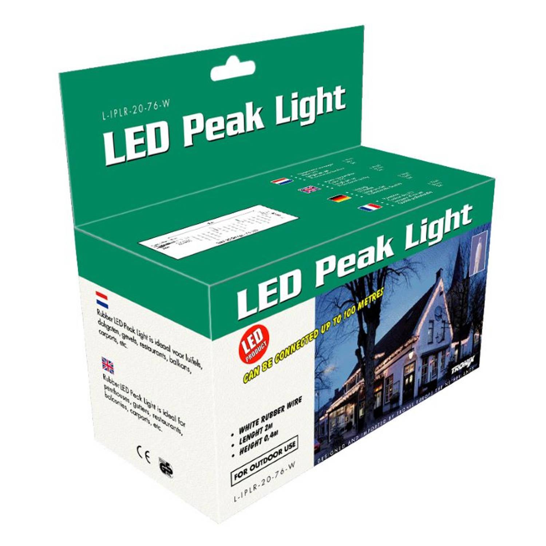Tronix Peak 200x40cm 6W LED Kerstsnoer wit Gevelversiering Warm Wit