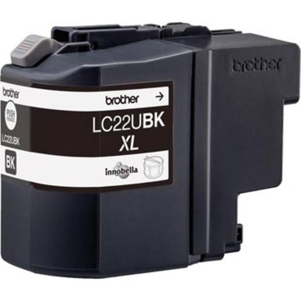 Brother inktcartridge zwart, 2.400 pagina's - OEM: LC-22UBK