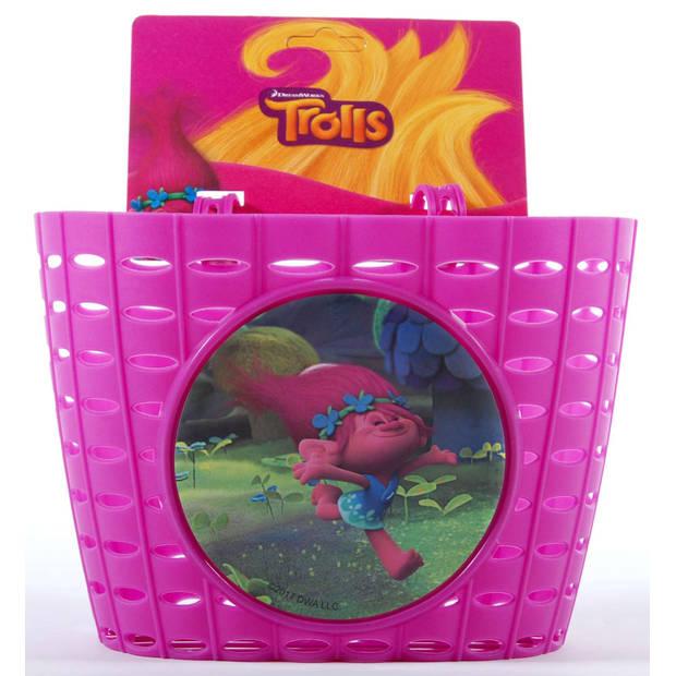 Volare fietsmandje trolls roze