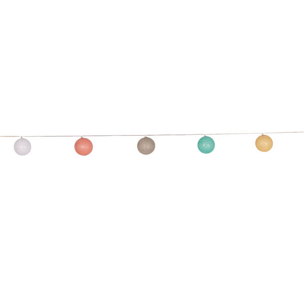 Royal Patio Solar Partyverlichting Cotton Ball kleur licht - 10 lampjes