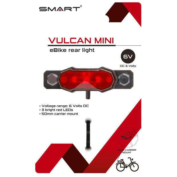 Smart achterlicht E-bike led rood/zwart