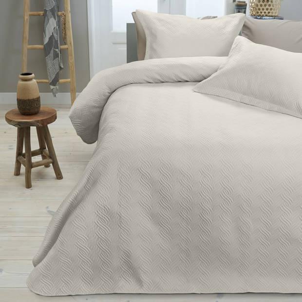 Sleeptime Wave bedsprei - 260x250 cm - creme