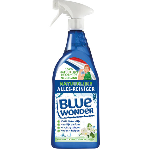 Blue Wonder Natuurlijke Allesreiniger Spray - 750 ml - Ceder & Bergamot