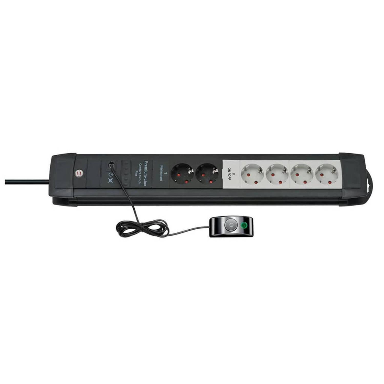 Brennenstuhl Stekkerdoos 6-voudig Premium-Line zwart 1156050071