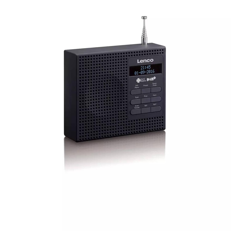 Lenco DAB+ wekkerradio met FM PDR-020 zwart