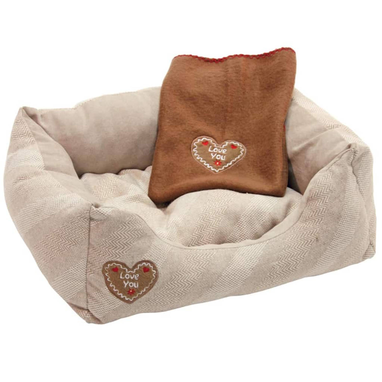 Kerbl Hondenmand Love You 61x48x18 cm beige 81262