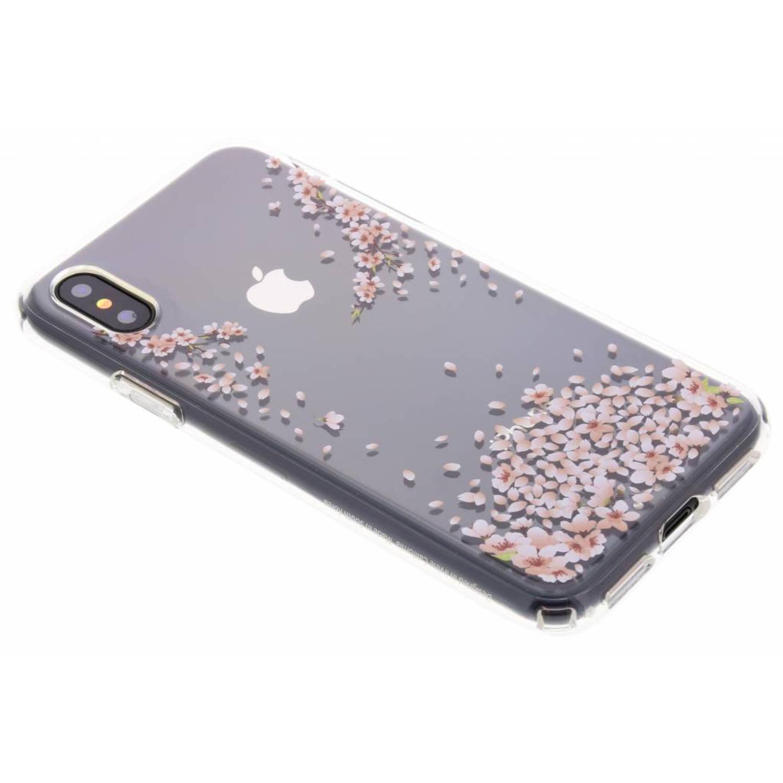 Transparante Liquid Crystal Blossom™ Case voor de iPhone X