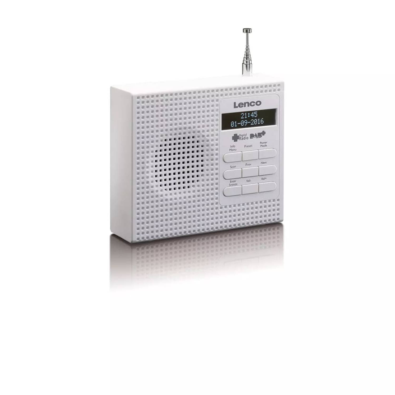 Lenco DAB+ wekkerradio met FM PDR-020 wit