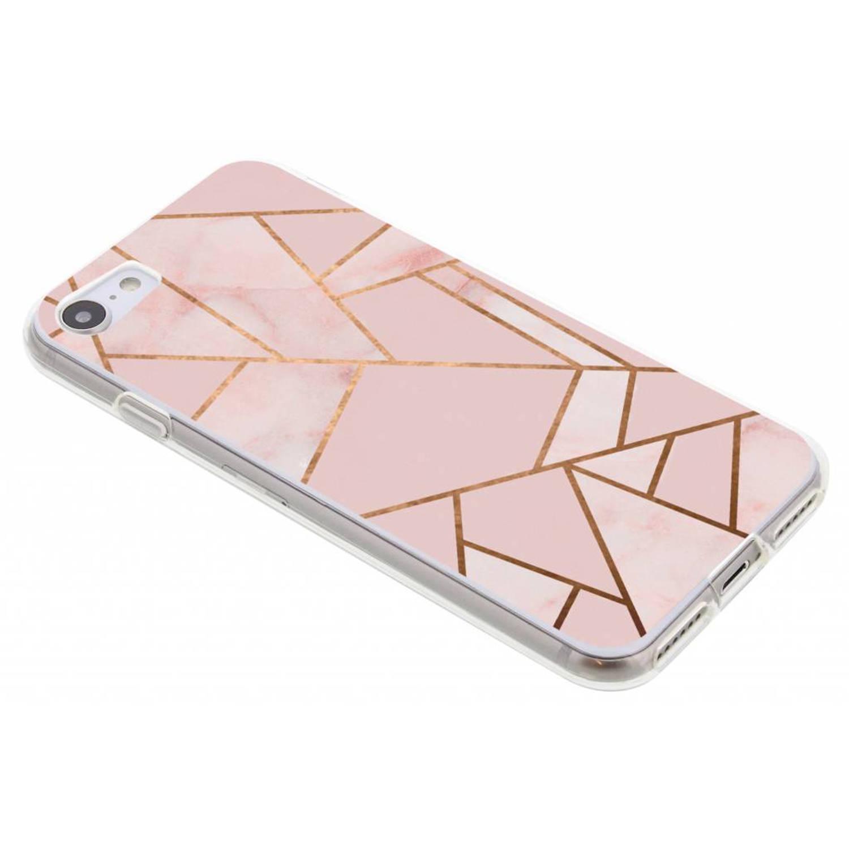 Roze Grafisch design TPU hoesje voor de iPhone 8-7
