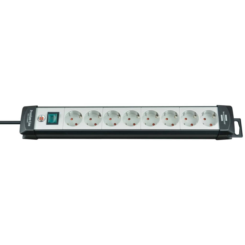 Brennenstuhl Premium-Line 8-weg stekkerdoos 3m (zilver)