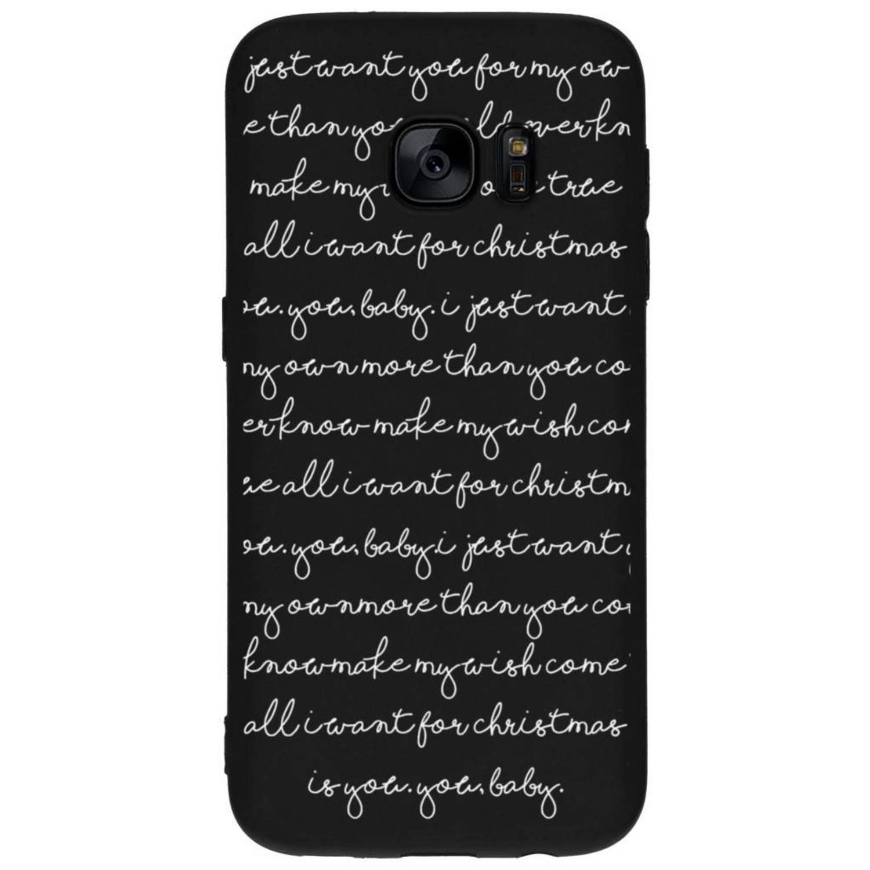 All I Want design siliconen hoesje voor de Samsung Galaxy S7
