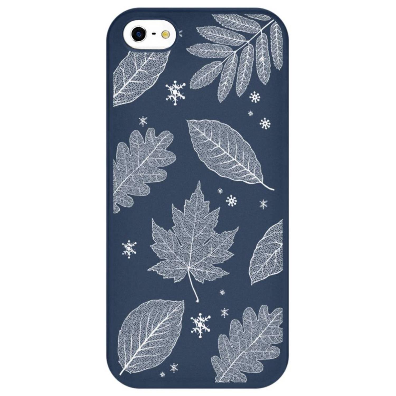 Sneeuw design siliconen hoesje voor de iPhone 5 / 5s / SE