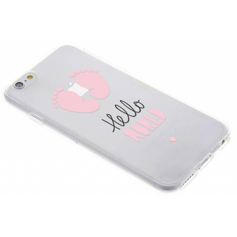 Baby roze design siliconen hoesje voor de iPhone 6 / 6s