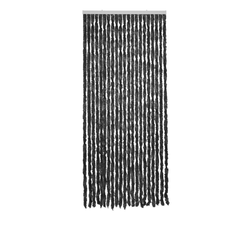 Royal Patio kattenstaartgordijn - 90 x 210 cm - zwart