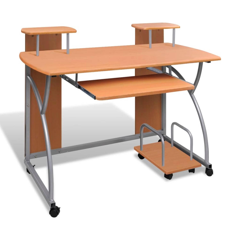 Studenten computer bureau 120 x 60 cm (bruin)