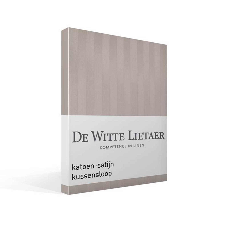 De Witte Lietaer Zygo kussensloop - 100% katoen-satijn - 60x70 cm - Standaardmaat - Grijs