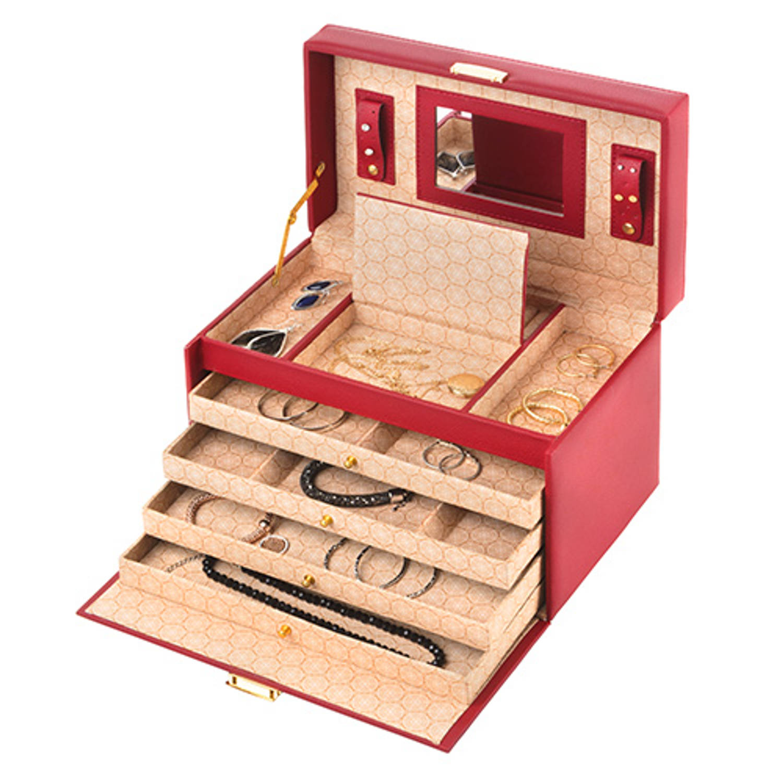 Treasury Sieradendoos - Luxe bijouteriedoos - Classic XL Red
