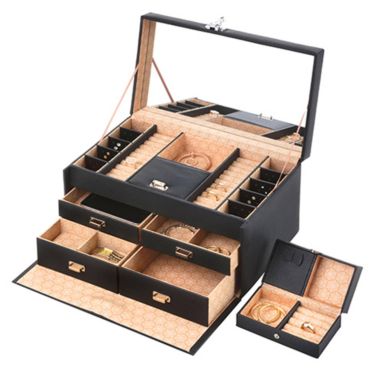 Treasury Sieradendoos - Luxe bijouteriedoos - Deluxe Zwart