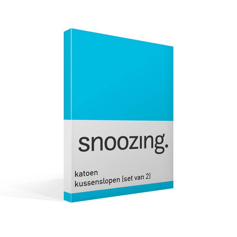 Snoozing katoen kussenslopen (set van 2) - 100% katoen - 40x60 cm - Blauw