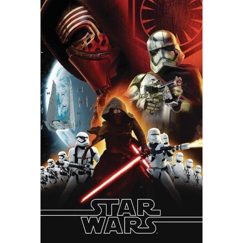 Kamparo fleece-deken Star Wars 150 x 100 cm zwart/rood