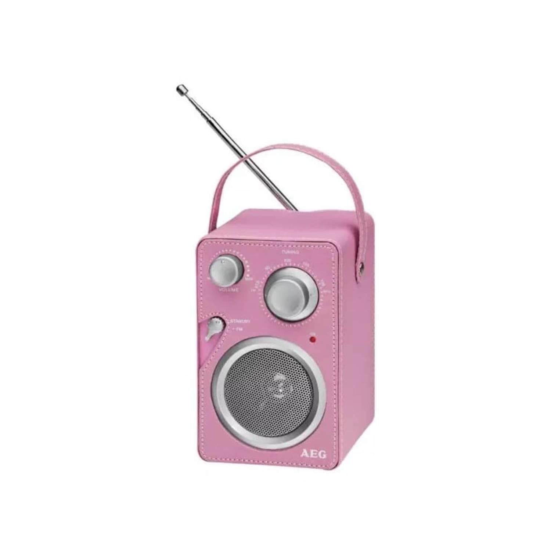 AEG Designradio roze MR 4144