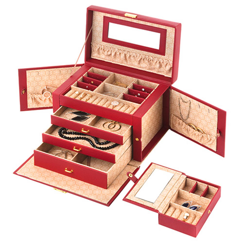 Treasury Sieradendoos - Luxe bijouteriedoos - Wings Red